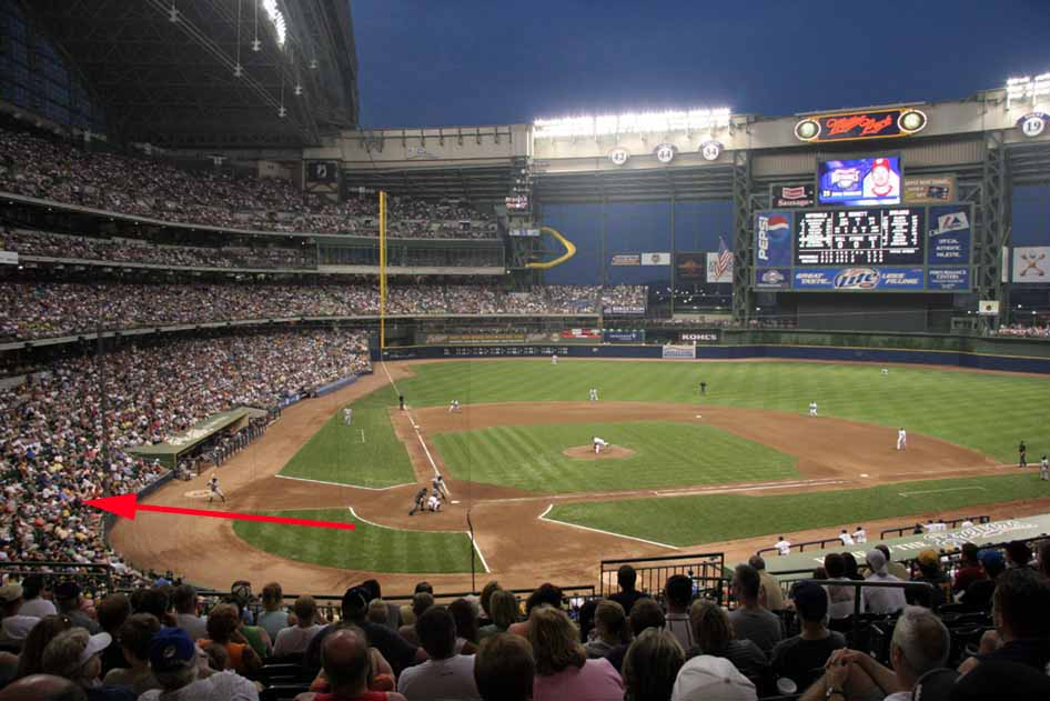 And finally…back home and Brewers Opening Day at Miller Park. We had AWESOME seats!